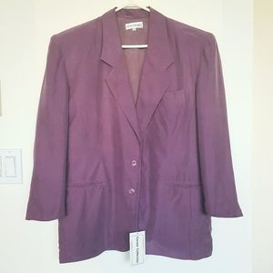 NWT Corsini Collection 100% Silk Lilac Blazer